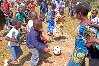 African Village Soccer Game