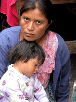 Mayan mother and child