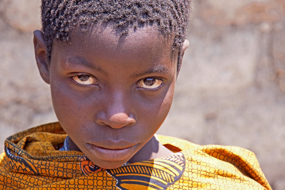 A Boy Orphaned Due to HIV/AIDS in Tanzania
