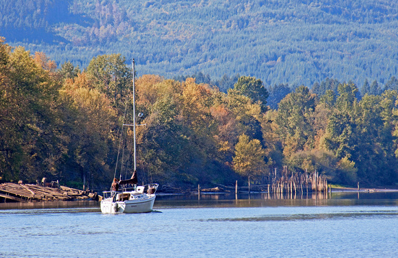 Sailing on Columbia River